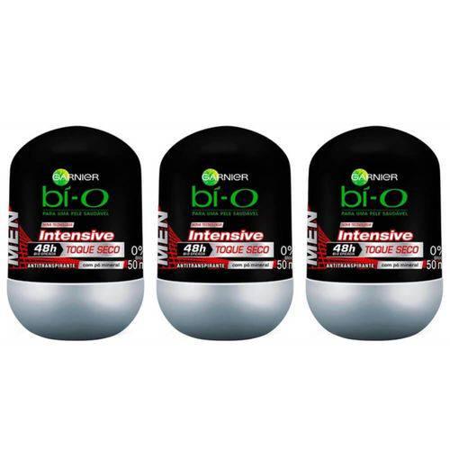 Bì-o Intensive Desodorante Rollon Masculino 50ml (kit C/03)