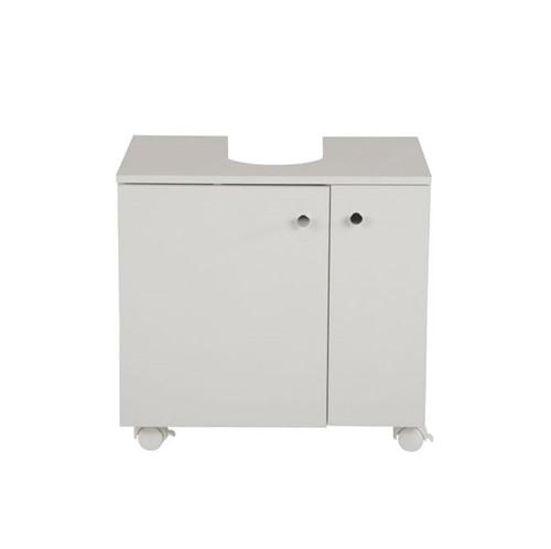 Bianc Gabinete Inferior Coluna 2 Portas C/rodízios Branco