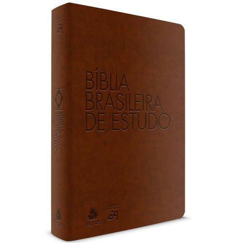 Bíblia Brasileira de Estudo | Almeida Século 21 | Emborrachada | Luxo | Marrom
