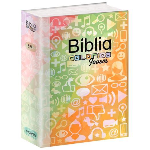 Biblia Colorida Jovem Capa Redes Sociais - Bvbooks