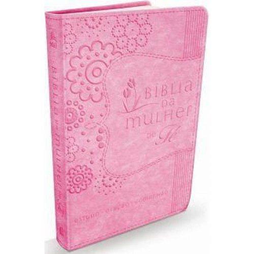Biblia da Mulher de Fe - Rosa - Thomas Nelson