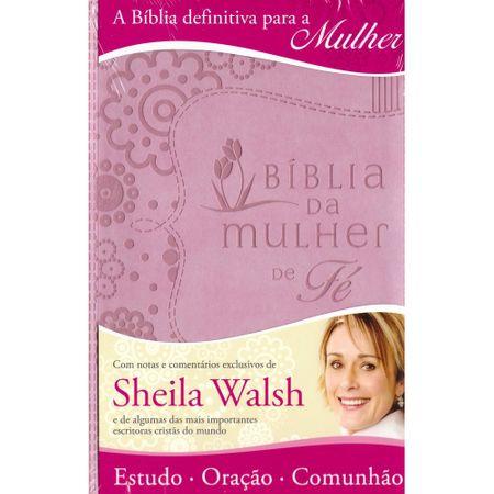 Bíblia da Mulher de Fé Rosa