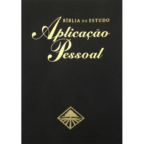 Bíblia de Estudo Aplicação Pessoal - Almeida Corrigida - Média - Luxo - Preta