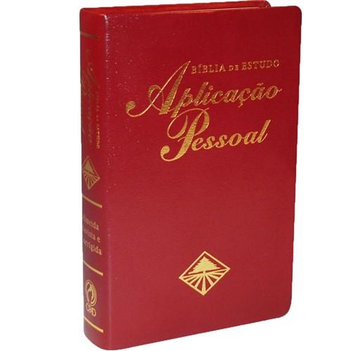 Bíblia de Estudo Aplicação Pessoal Média - Luxo - Vinho