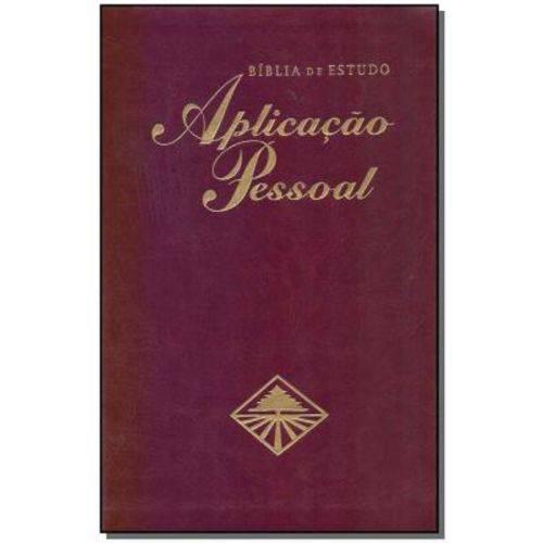 Bíblia de Estudo - Aplicação Pessoal - Média Luxo - Vinho
