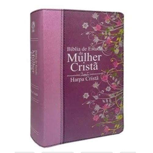 Bíblia de Estudo da Mulher Cristã - Grande com Harpa (pink)