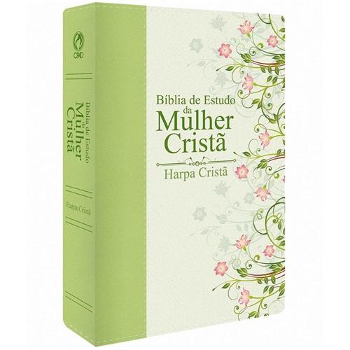 Bíblia de Estudo da Mulher Cristã Verde Média C/ HP