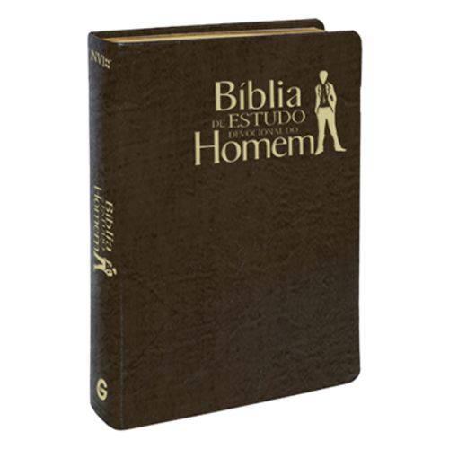 Bíblia de Estudo Devocional do Homem - Capa Luxo Marrom