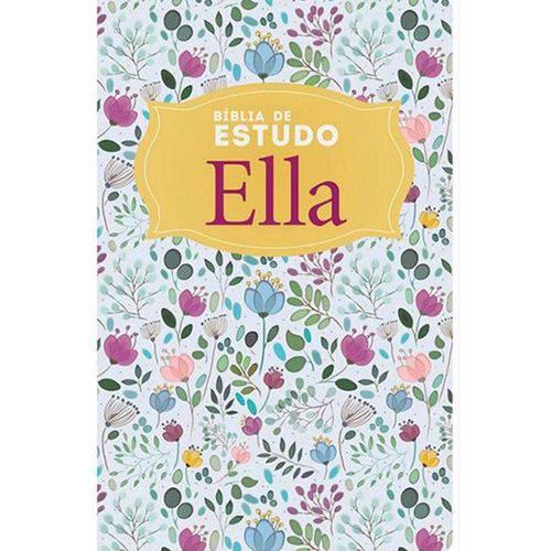 Bíblia de Estudo Ella - Capa Especial Floral