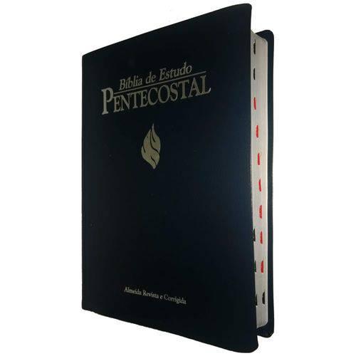 Bíblia de Estudo Pentecostal com Índice - Grande Azul - Cpad