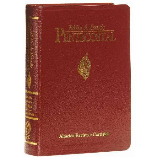 Bíblia de Estudo Pentecostal Harpa Cristã | RC | Média | Vinho | Luxo