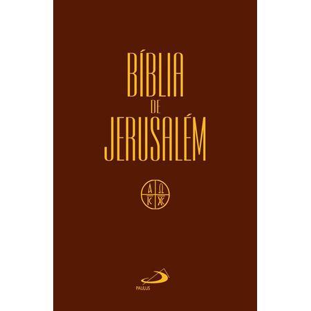 Bíblia de Jerusalém Brochura Marrom