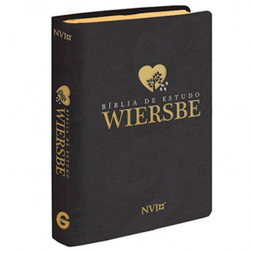 Bíblia Estudo Wiersbe - Capa Luxo - Preta