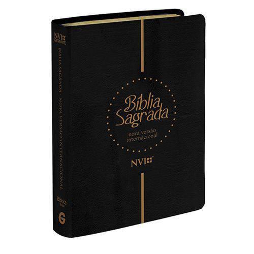 Biblia Gigante Nvi - Capa Luxo Preta - Geografica