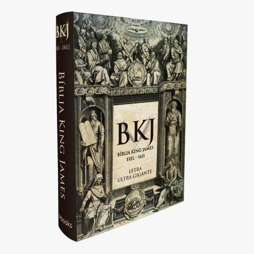 Bíblia King James Fiel 1611 Letra Ultra Gigante Capa Dura