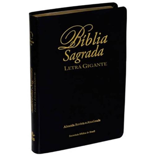 Bíblia Letra Gigante Ra - Luxo Preta
