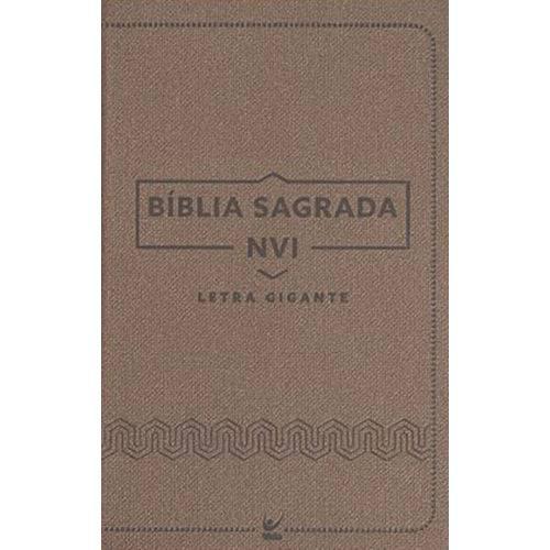 Bíblia Luxo Marrom - Letra Gigante