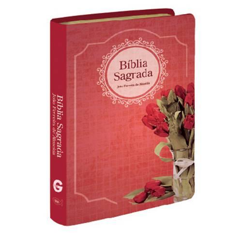 Bíblia Média com Novo Testamento em Duas Cores e Mapa - Capa Luxo Feminina Estampada