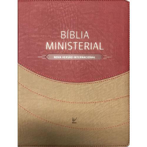 Bíblia Ministerial - Capa Marrom Claro e Vermelho