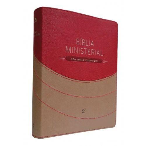 Bíblia Ministerial Nvi - Capa Marrom Claro e Vermelho
