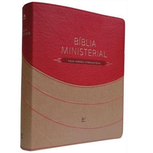 Biblia Ministerial Nvi - Marrom e Vermelho - Vida