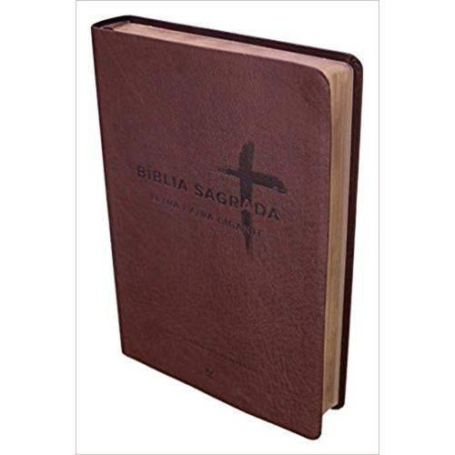 Bíblia Nvi Letra Extra Gigante - Capa Pu Marrom