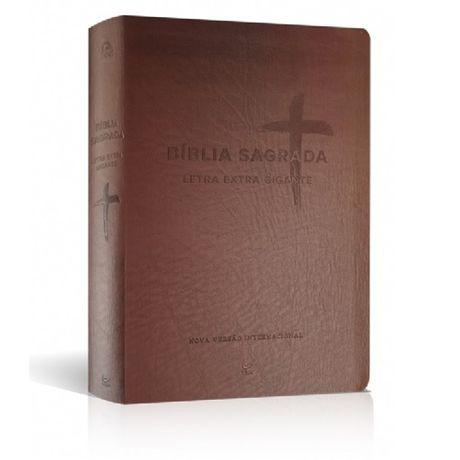 Bíblia NVI Letra Extragigante Marrom