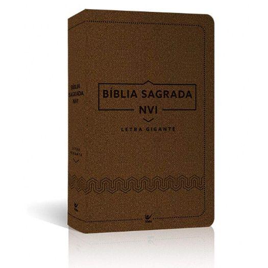 Biblia Nvi Letra Gigante Luxo Marrom - Vida