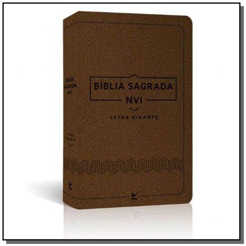 Biblia Nvi Letra Gigante - Luxo Marrom