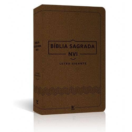 Bíblia Nvi Letra Gigante - Luxo Marrom