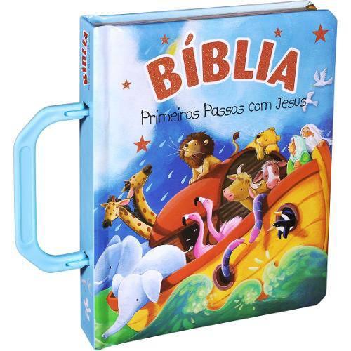 Bíblia Primeiros Passos com Jesus - Maleta - (Azul)