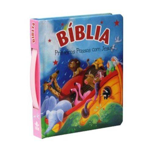 Bíblia Primeiros Passos de Jesus - Rosa