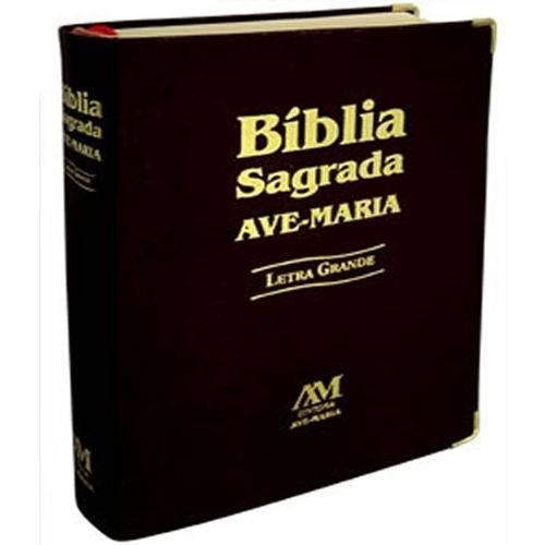 Biblia Sagrada Ave-maria - Letra Grande - Capa Preta
