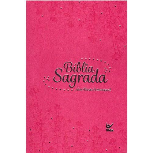Bíblia Sagrada - Capa Semi Luxo Rosa