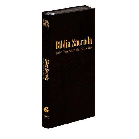Bíblia Sagrada de Bolso RC Luxo Preta C/ Zíper