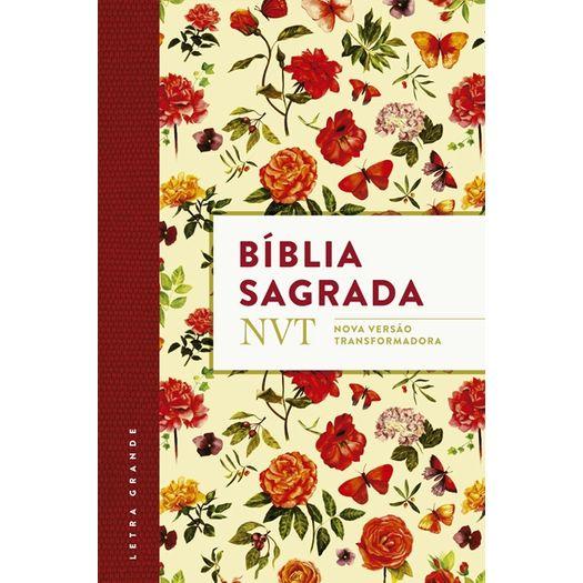 Biblia Sagrada - Flores - Mundo Cristao