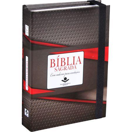 Bíblia Sagrada Fonte de Benção com Caderno para Anotações Tradicional