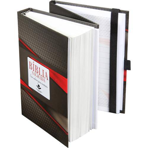 Bíblia Sagrada Fonte de Bençãos com Caderno para Anotações - Tradicional
