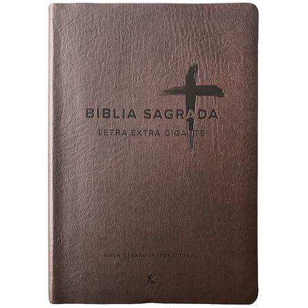 Bíblia Sagrada Letra Extra Gigante NVI Marrom