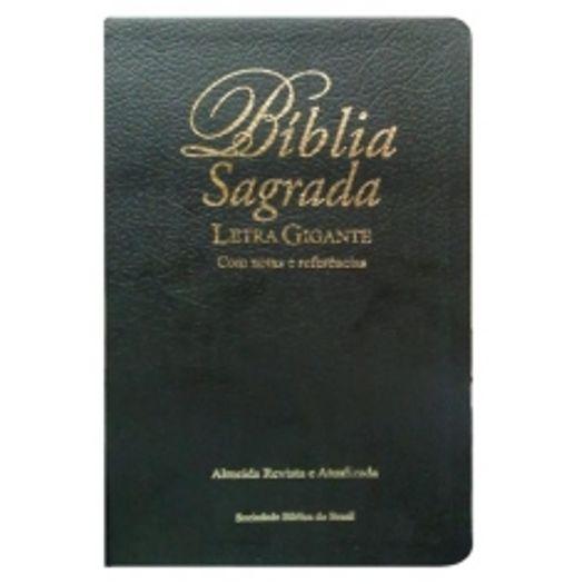 Biblia Sagrada Letra Gigante - Couro Preta - Sbb