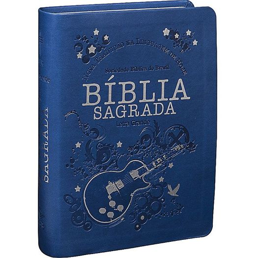 Biblia Sagrada Letra Grande - Capa Azul - Sbb