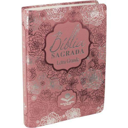 Bíblia Sagrada Letra Grande - Luxo Rosa - Sbb