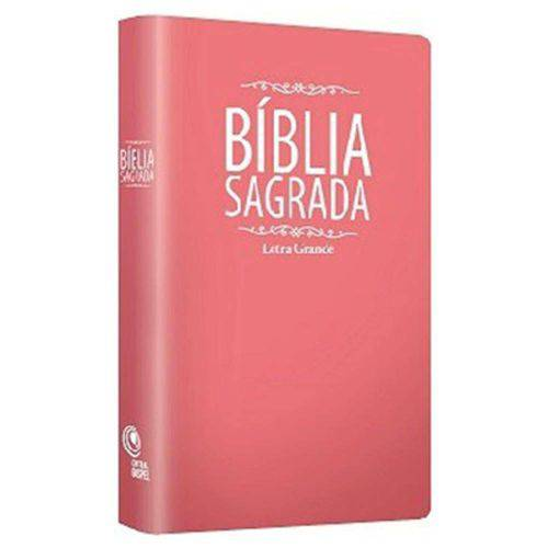 Bíblia Sagrada Média - Letra Grande - Rosa