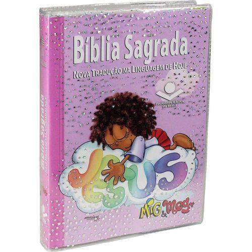 Biblia Sagrada Mig e Meg - Capa Rosa - Sbb