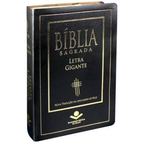 Bíblia Sagrada Ntlh Letra Gigante - Luxo Preta