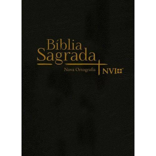 Bíblia Sagrada Nvi Grande - Capa Semiluxo Preta