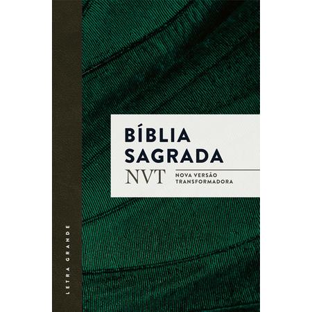 Bíblia Sagrada NVT Letra Grande Verde