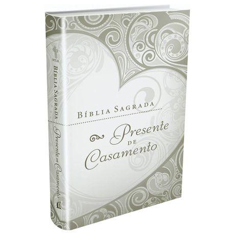Bíblia Sagrada Presente de Casamento Dourada