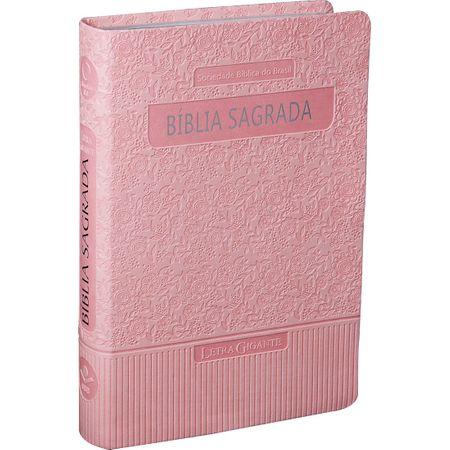 Bíblia Sagrada RA e Letra Gigante Rosa