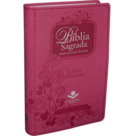 Bíblia Sagrada RC Letra Gigante Pink